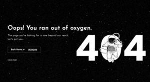 user experience is improved by this microcopy that makes the 404 page fun