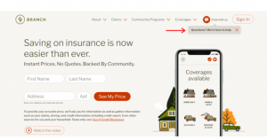 Branch uses microcopy to improve the user experience by making easy to find help.